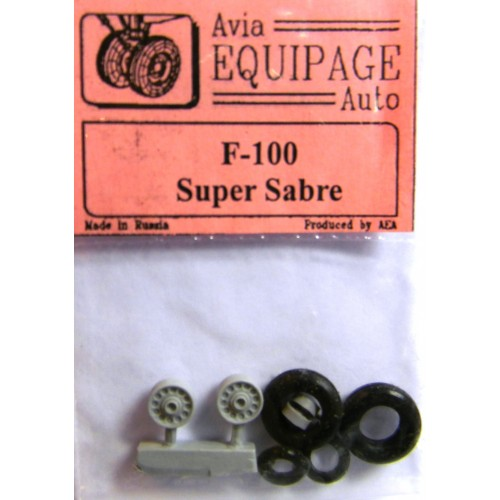 EQB-72062 Equipage 1/72 Rubber Wheels for North American F-100 Super Sabre