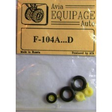 EQB-72064a Equipage 1/72 Rubber Wheels for Lockheed F-104A ... F-104D Starfighter