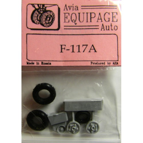 EQB-72070 Equipage 1/72 Rubber Wheels for Lockheed F-117A Nighthawk