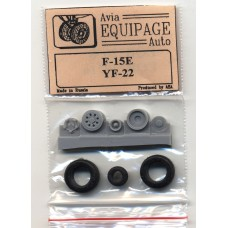 EQB-72071a Equipage 1/72 Rubber Wheels for Lockheed/Boeing/General Dynamics YF-22