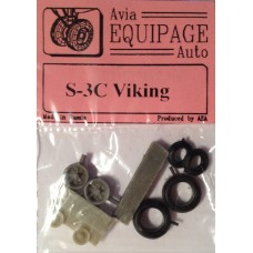 EQB-72074 Equipage 1/72 Rubber Wheels for Lockheed S-3C Viking