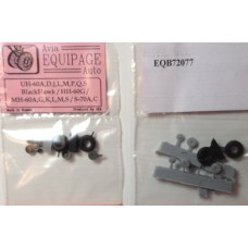 EQB-72077 Equipage 1/72 Rubber Wheels for Sikorsky UH-60
