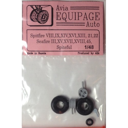EQC-48025 Equipage 1/48 Rubber Wheels for Seafire Mk.III, XV, XVII, XVIII, 45 / Spiteful