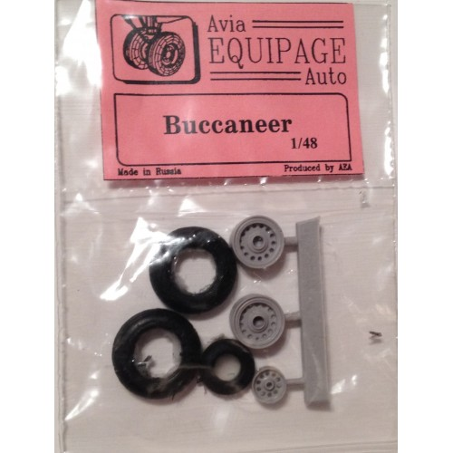 EQC-48042 Equipage 1/48 Rubber Wheels for Blackburn Buccaneer