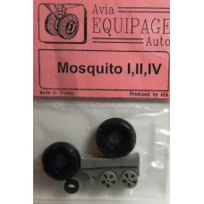 EQC-72008 Equipage 1/72 Rubber Wheels for De Havilland DH.98 Mosquito Mk.I, Mk.II, Mk.IV