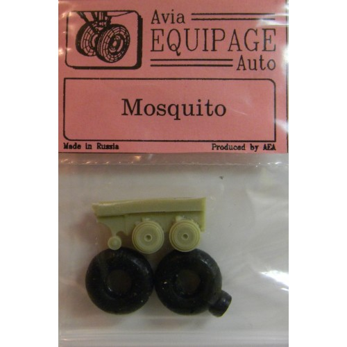 EQC-72009 Equipage 1/72 Rubber Wheels for De Havilland DH.98 Mosquito