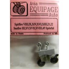 EQC-72021 Equipage 1/72 Rubber Wheels for Spitfire Mk.VIII, Mk.IX, XIV, XVI, XIII, 21, 22