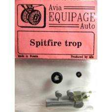 EQC-72023 Equipage 1/72 Rubber Wheels for Supermarine Spitfire Mk.V trop