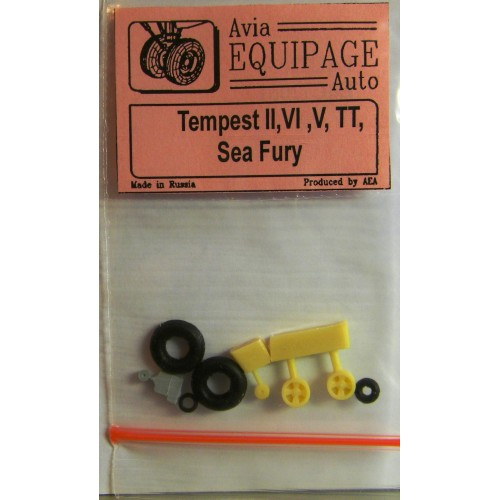 EQC-72031 Equipage 1/72 Rubber Wheels for Hawker Sea Fury