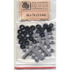 EQG-144001 Equipage 1/144 Rubber Wheels for for Ilyushin Il-76 Candid Heavy Transport Aircraft