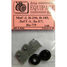 EQG-48016 Equipage 1/48 Rubber Wheels for Mikoyan I-250