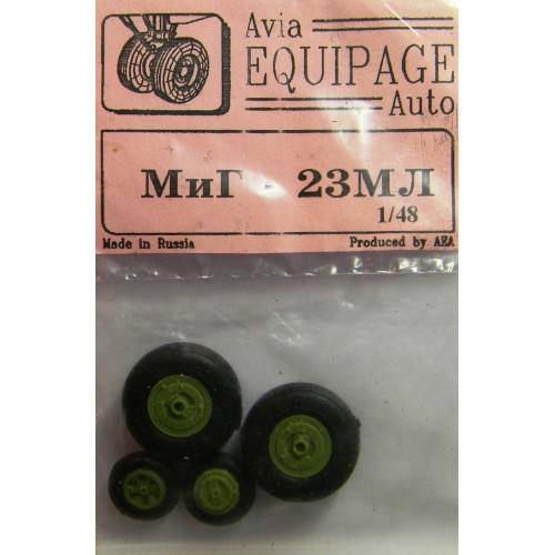 EQG-48027 Equipage 1/48 Rubber Wheels for Mikoyan MiG-23ML