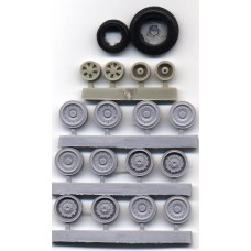 EQG-48048 Equipage 1/48 Rubber Wheels for Sukhoi Su-24