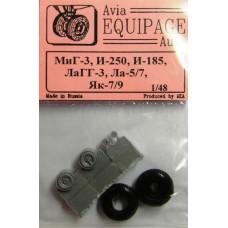 EQG-48068 Equipage 1/48 Rubber Wheels for La-5, La-7