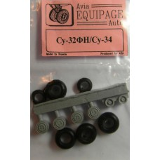EQG-72054 Equipage 1/72 Rubber Wheels for Sukhoi Su-34, Su-32FN