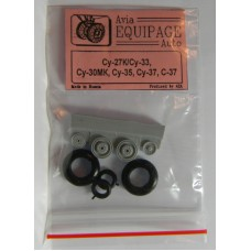 EQG-72055 Equipage 1/72 Rubber Wheels for Sukhoi Su-35, Su-37, S-37