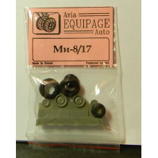 EQG-72099 Equipage 1/72 Rubber Wheels for Mil Mi-8/17