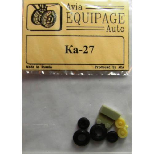 EQG-72105 Equipage 1/72 Rubber Wheels for Kamov Ka-27, Ka-28