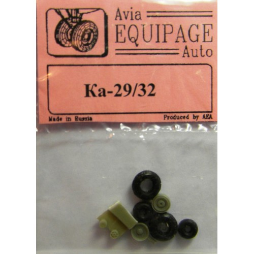 EQG-72106 Equipage 1/72 Rubber Wheels for Kamov Ka-29, Ka-32