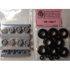 EQG-72124 Equipage 1/72 Rubber Wheels for Myasishchev 3M / VM-T Atlant