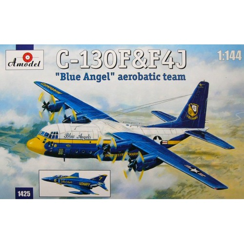 AMO-1425 1/144 C-130 and F4J model kit