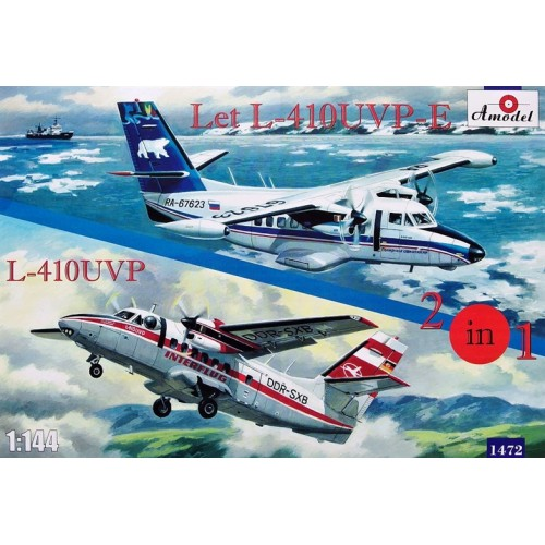 AMO-1472 1/144 L-410UVP and L-410UVP-E model kit