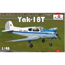 AMO-4807 1/48 Yak-18T Blue Aeroflot model kit