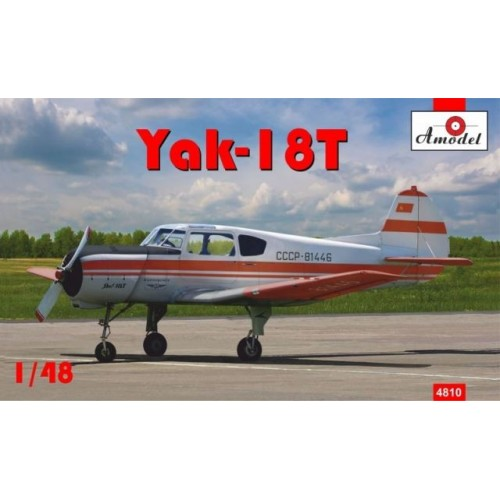 AMO-4810 1/48 Yak-18T Red Aeroflot model kit