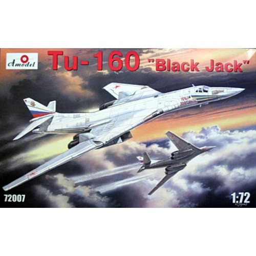 AMO-72007 1/72 Tupolev Tu-160 Blackjack Russian AF Strategic Bomber model kit