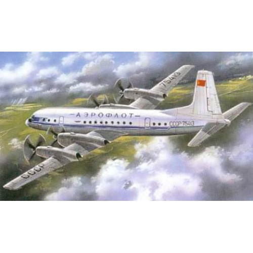 AMO-72011 1/72 Ilyushi Il-18 passenger turbo-prop airliner model kit
