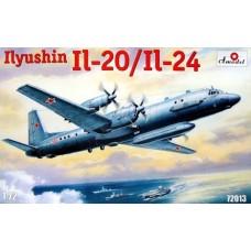 AMO-72013 1/72 Ilyushin Il-20/Il-24 Turboprop Patrol Aircraft model kit