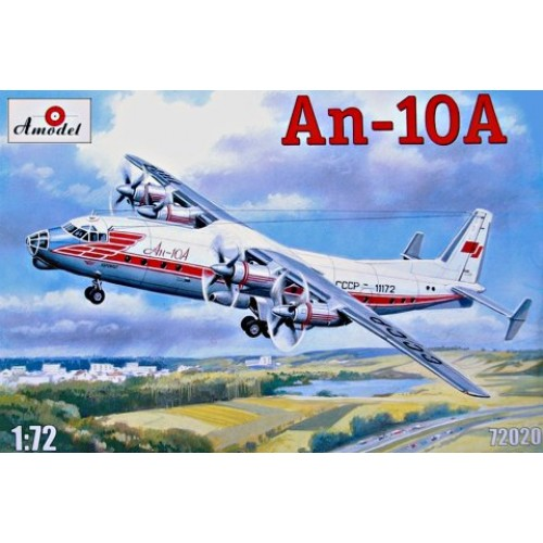 AMO-72020 1/72 Antonov An-10A Turboprop Passenger Aircraft model kit