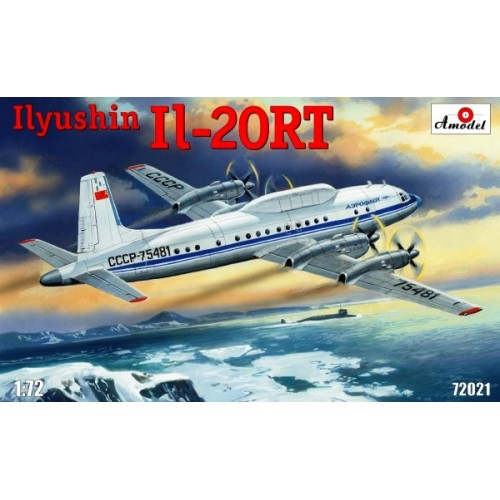 AMO-72021 1/72 Ilyushin IL-20RT Soviet Special Purpose Aircraft model kit