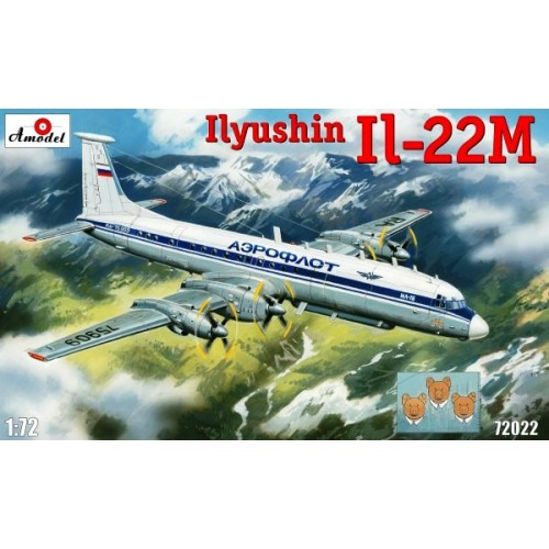 AMO-72022 1/72 Ilyushin IL-22M Soviet Special Purpose Aircraft model kit