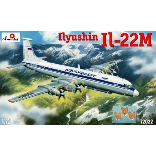 AMO-72022 1/72 Ilyushin IL-22M Soviet Special Purpose Aircraft model kit