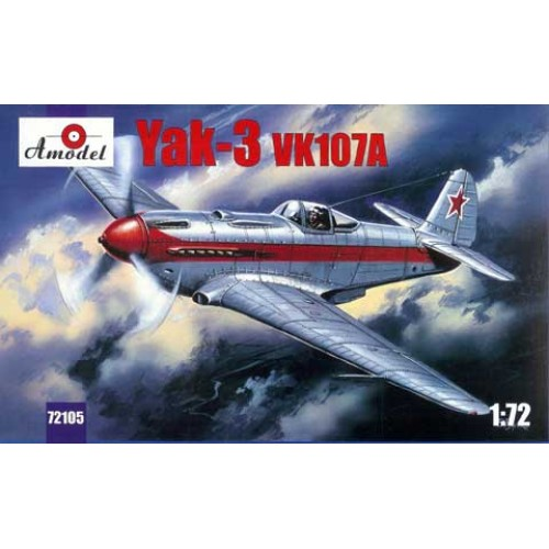 AMO-72105 1/72 Yakovlev Yak-3 vk107a Soviet WW2 Fighter model kit