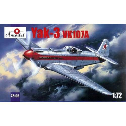 AMO-72105 1/72 Yakovlev Yak-3 vk107a Soviet WW2 Fighter model kit