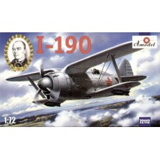 AMO-72112 1/72 Polikarpov I-190 Soviet Fighter-Biplane model kit