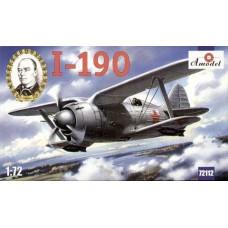 AMO-72112 1/72 Polikarpov I-190 Soviet Fighter-Biplane model kit