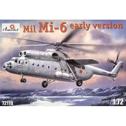 AMO-72119 1/72 Mil Mi-6 'Hook' Soviet Heavy helicopter (early version) model kit
