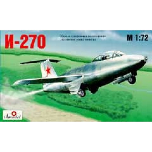 AMO-7212 1/72 Mikoyan I-270 Soviet jet fighter model kit