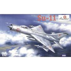 AMO-72121 1/72 Sukhoi Su-11 Soviet Fighter-Interceptor model kit
