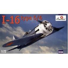 AMO-72123 1/72 Polikarpov I-16 type 5/6 Soviet WW2 Fighter (Russian, Chinese, Finland, Spanish markings) model kit