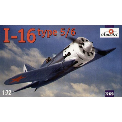 AMO-72123 1/72 Polikarpov I-16 type 5/6 Soviet WW2 Fighter (Russian, Chinese, Finland, Spanish markings) model kit