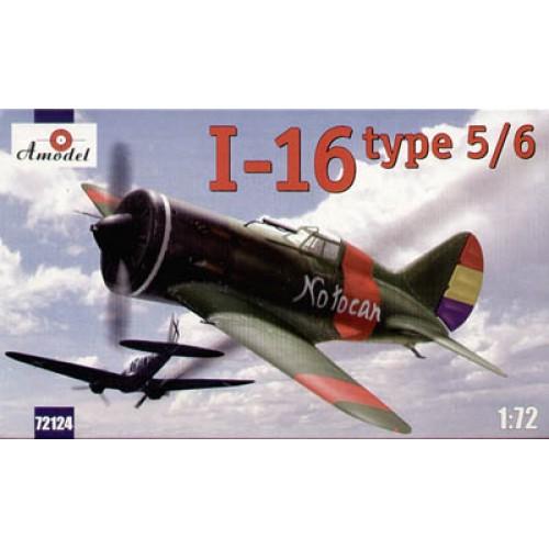 AMO-72124 1/72 Polikarpov I-16 type 5/6 Soviet WW2 Fighter (Russian and Spanish markings) model kit