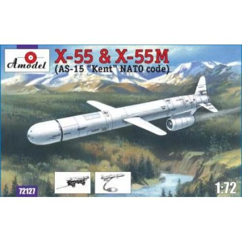 AMO-72127 1/72 X-55 and X-55M (AS-15 Kent) Soviet Cruiser Missiles model kit