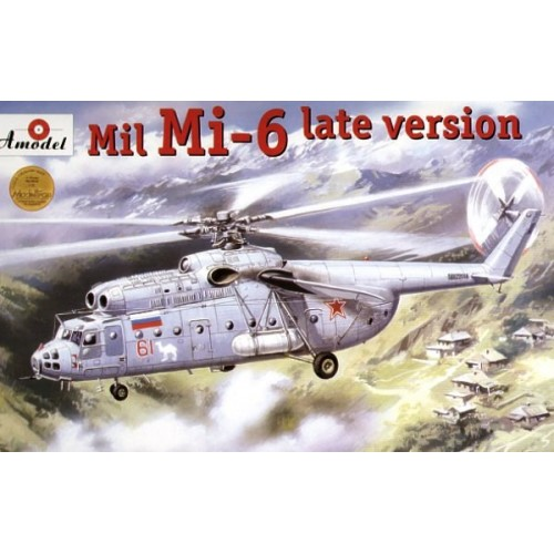AMO-72131 1/72 Mil Mi-6 'Hook' Soviet Helicopter Late Version model kit