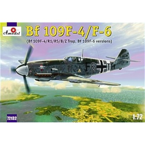 AMO-72132 1/72 Messerschmitt Bf-109F4/F6 (R1/R5/B/Z trop) German WW2 Fighter model kit