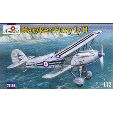 AMO-72138 1/72 Hawker Fury Mk.I/Mk.II Fighter-Biplane model kit