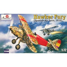 AMO-72139 1/72 Hawker Fury Spanish Republican Air Force 1939 model kit